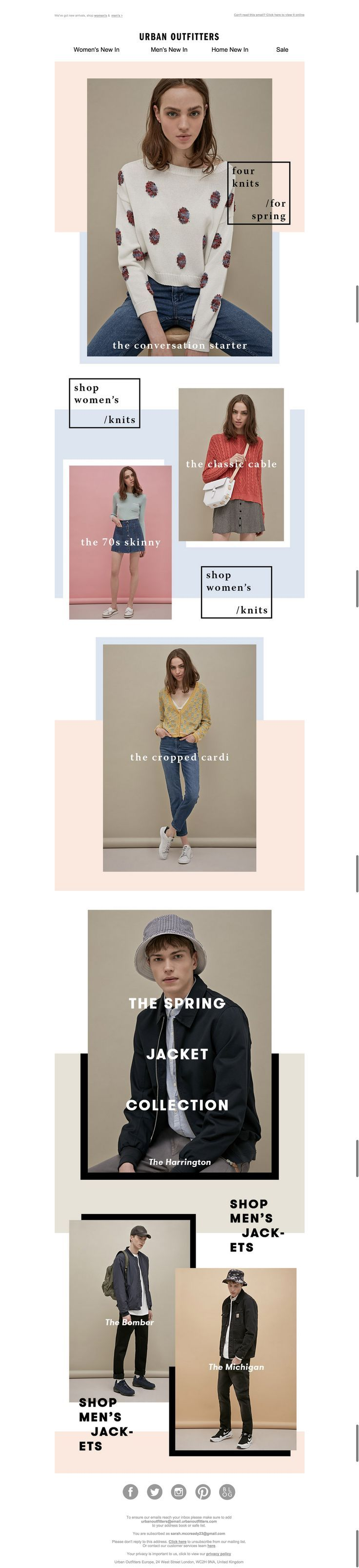 COLOUR STORIES - the colour blocking is effective here to not only link the images but convey spring