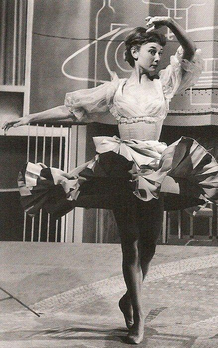 audrey hepburn fashion tumblr | audreyhepburn-a-style-icon:Young Audrey Hepburn dancing Ballet.