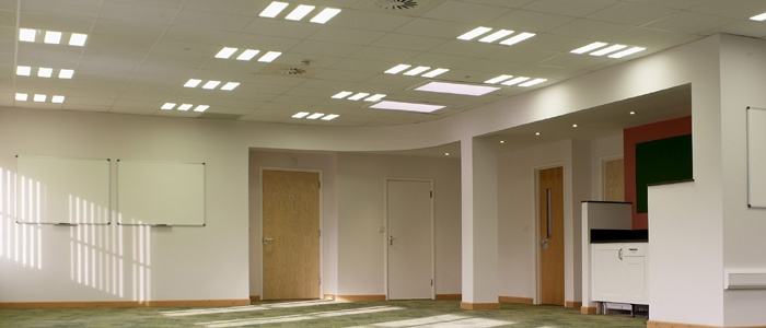 Education facilities LED lighting - training room for commercial office