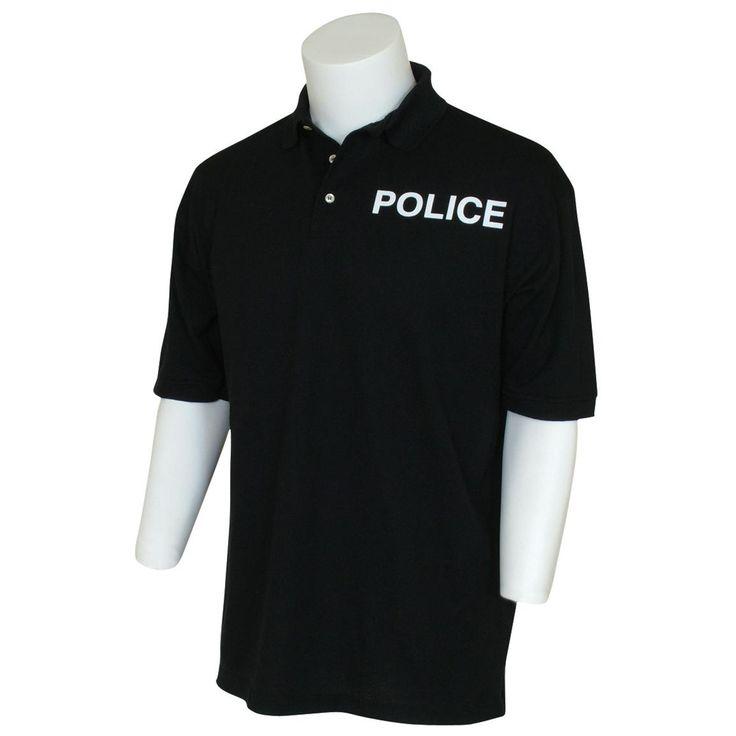 Fox Tactical™ Police Imprinted Polo Shirt, Black