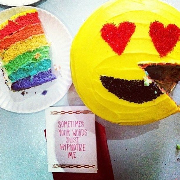 Emoji rainbow cake from Flour Shop.