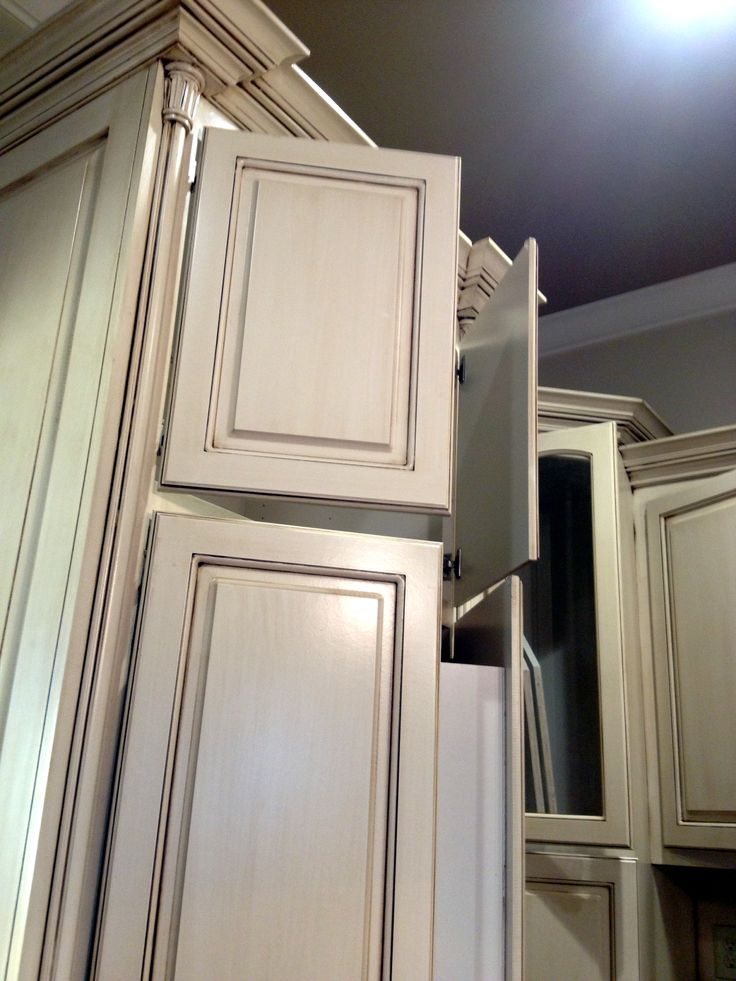 Our Antiqued Kitchen Cabinets
