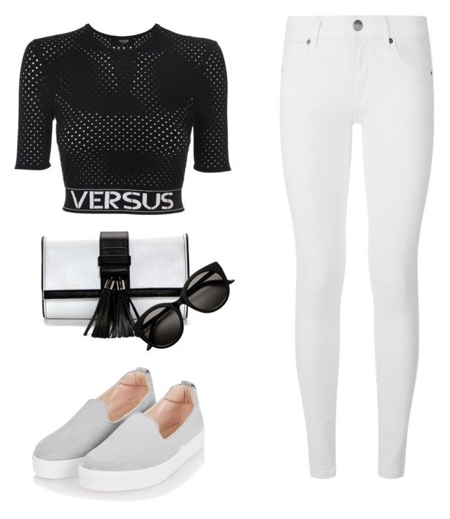 """Untitled #4"" by andree4048 on Polyvore featuring Versus, Burberry and Topshop"