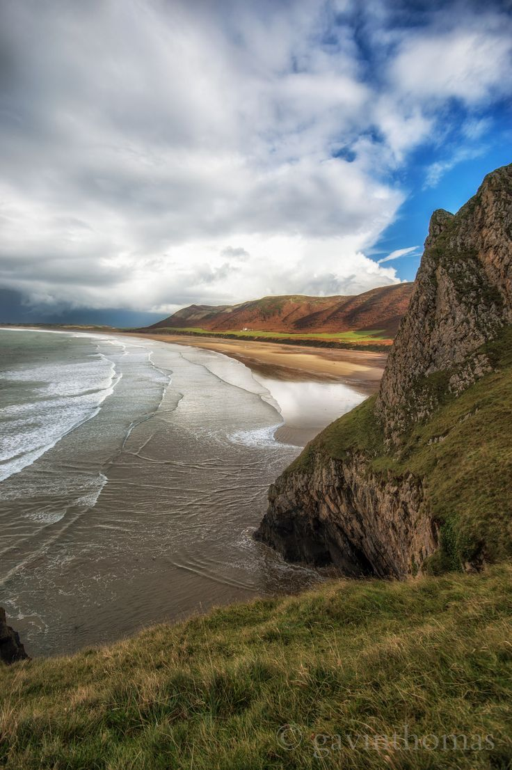 Rhossili beach, Swansea, Wales  by gavinthomas436 Wander the wood
