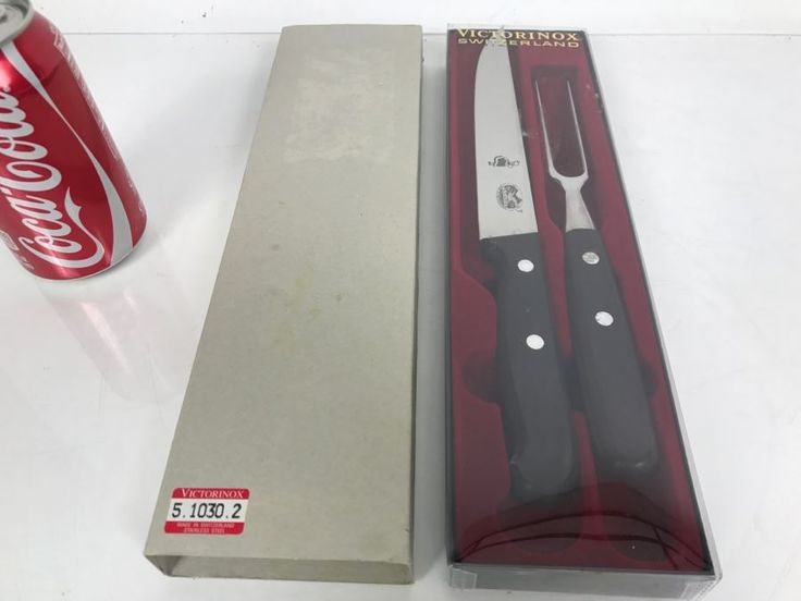Victorinox Extra Quality Stainless Steel Carving Knife Set New In Box Made In Switzerland 5.1030.2