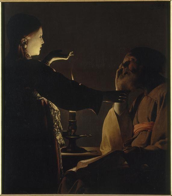 L'Apparition de l'ange à saint Joseph, dit aussi Le Songe de saint Joseph, dit aussi Georges de La Tour Photo (C) RMN-Grand Palais / Gérard Blot