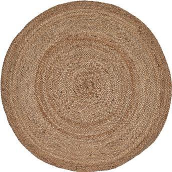 VLOERKLEED SOLIS NATURELØ100CM, handgemaakt en van jute #vloerkleed #vloer #kwantum #natuurlijkwonen