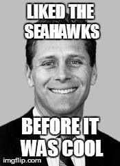 Steve Largent, baby! My all time favorite Seahawk, well him and Robbie Tobeck and Russell Wilson and Earl Thomas and Jim Zorn and ...