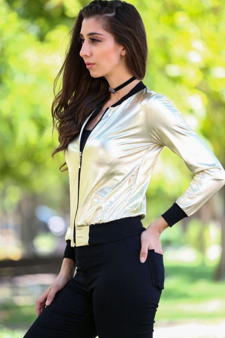 Major Fermuarlı Parlak Kumaş Açık Sarı Ceket #kadıngiyim #moda #butik #kapıdaödeme #ceket #kombin #tarz #sarıceket #majorgiyim #yenisezon #kadınlar #trend #fermuarlı