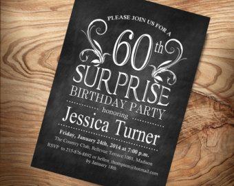 Surprise 60th Birthday Invitation / Any Age / Digital Printable Invitation / Customized