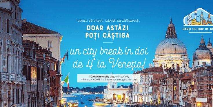 Castiga un city break de 4* la Venetia! Iubesti sa citesti, iubesti sa calatoresti.