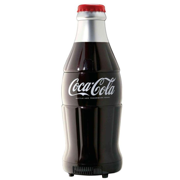 Koolatron Coca Cola Bottle Fridge, Black