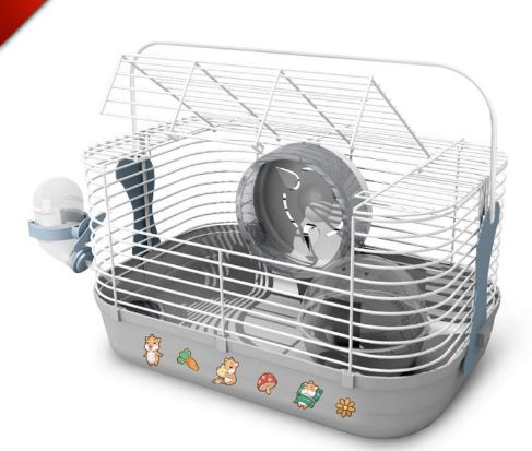 Hamster Gerbil Plastic & Wire Cage with Accessories – PawzOutlet