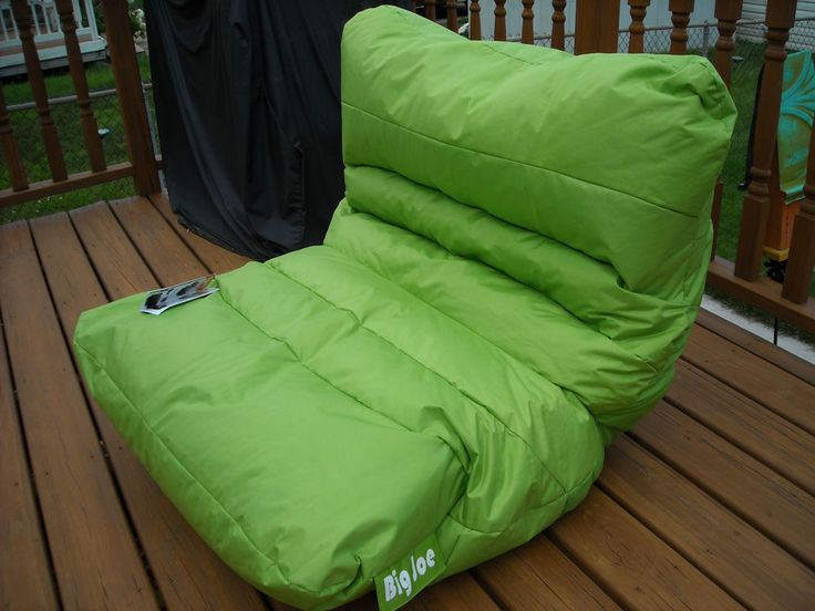 NEW BIG JOE ROMA LIME GREEN BEAN BAG LOCAL PICKUP LOUNGE CHAIR DORM BEDROOM DEN