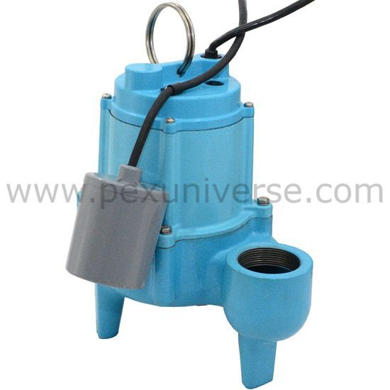 9SN-CIA-RF Automatic Sewage Pump w/ Piggyback Wide Angle Float Switch and 20' cord, 4/10 HP, 115V