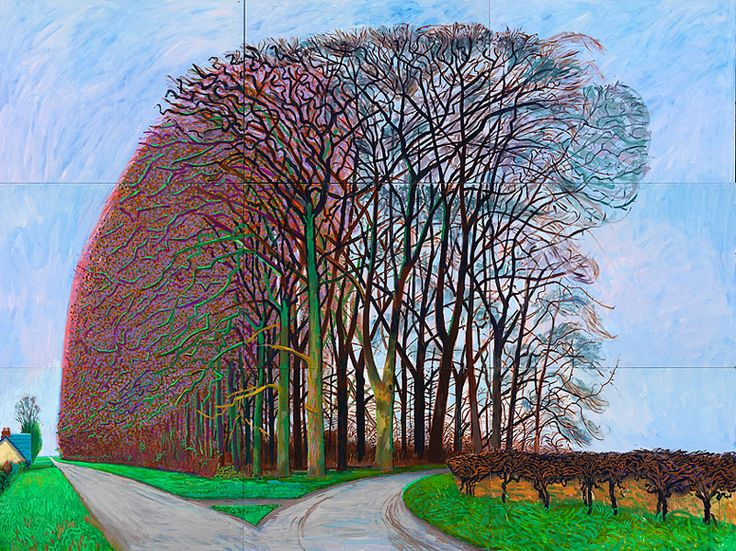 Hockney: Bigger Trees Near Warter. Went to the Royal Academy show last week, and was blown away.
