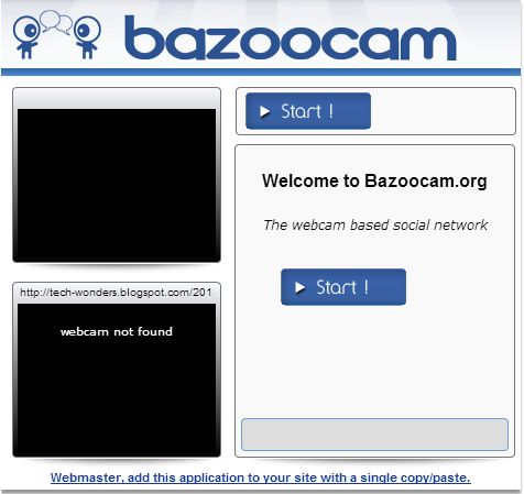 Live Video #Chat on Bazoocam http://www.tech-wonders.com/2013/06/video-chat-on-bazoocam-overview.html