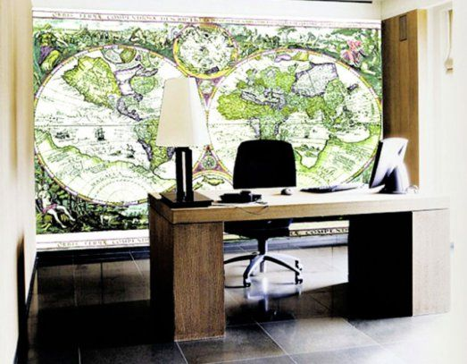 17 best images about home office wallpaper inspiration on for Wallpaper home office