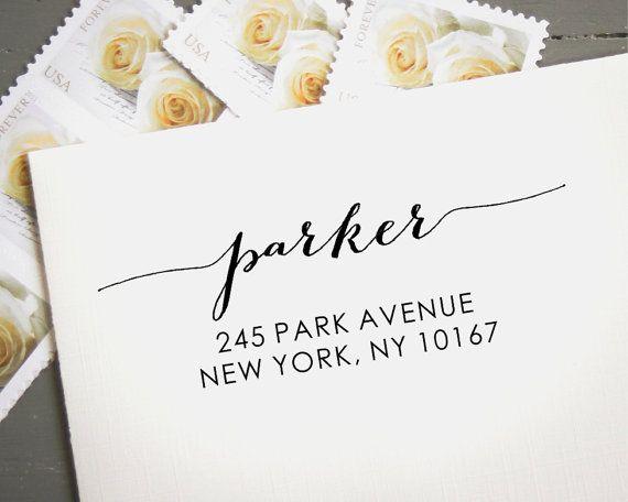 Custom Stamp, Custom Address Stamp, Self Inking Return Address Stamp, Wedding Reply Cards, Hand Calligraphy Look, Let love win