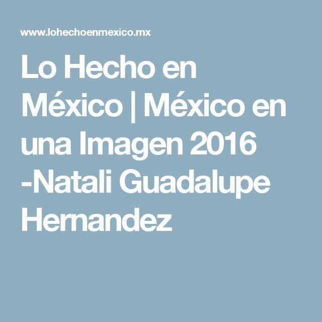 Lo Hecho en México | México en una Imagen 2016 -Natali Guadalupe Hernandez