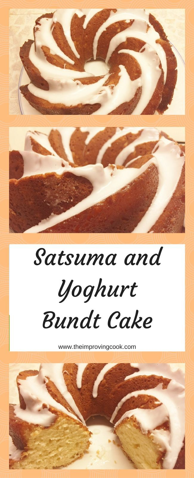 Satsuma and Yoghurt Bundt Cake- use up leftover satsumas to make this light, moist bundt cake. Also works as a loaf cake.