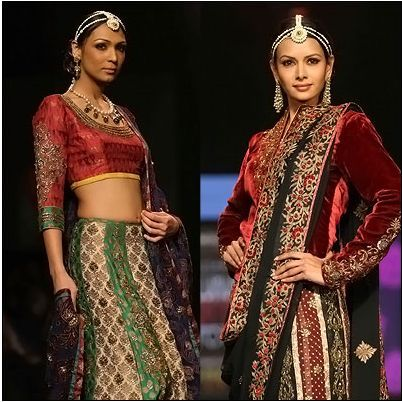 Rohit Bal Designer Saree Lehenga Collection 2017 3
