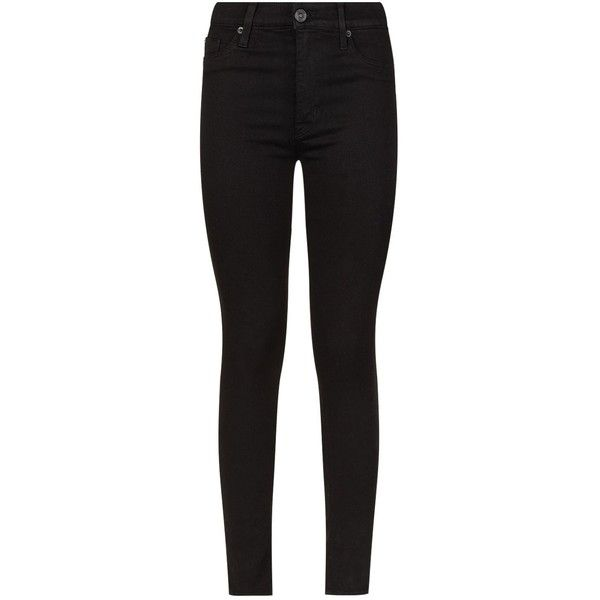 Hudson Barbara High-Waist Skinny Jeans (810 BRL) ❤ liked on Polyvore featuring jeans, high waisted stretch jeans, skinny leg jeans, super stretchy skinny jeans, high-waisted skinny jeans and stretch skinny jeans