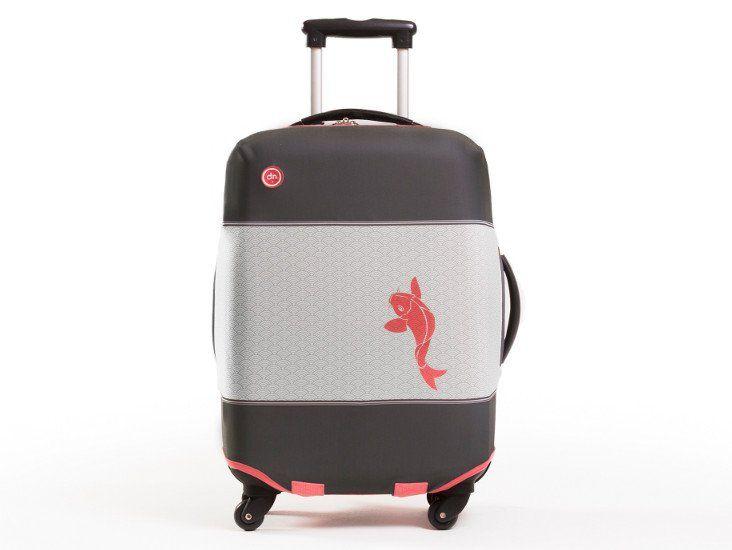 Housse à valise bobo-trendy, pour accessoiriser votre tenue jusque votre bagage tout en le protégeant des impacts et rayures