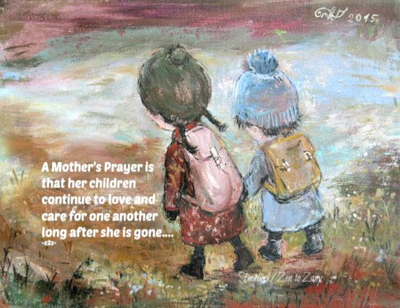MOTHER'S PRAYER MAGNET by Nino Chakvetadze and Zen to by ZENTOZANY
