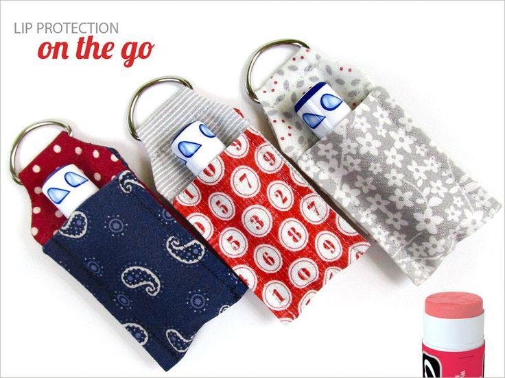 Lip Balm Key Ring Mini Case | täschchen, Anhänger für Lippenbalsam, free