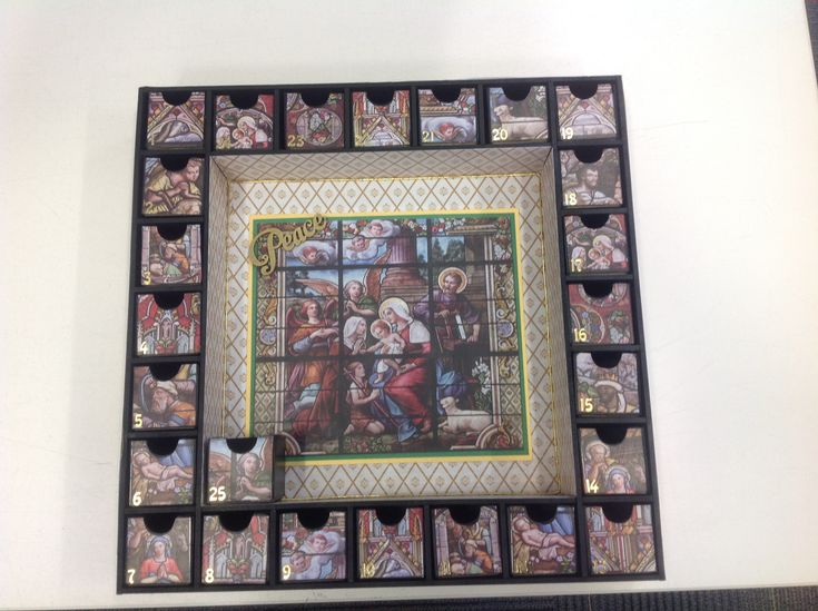 Made this advent calendar using Kaiser papers and calendar kit.