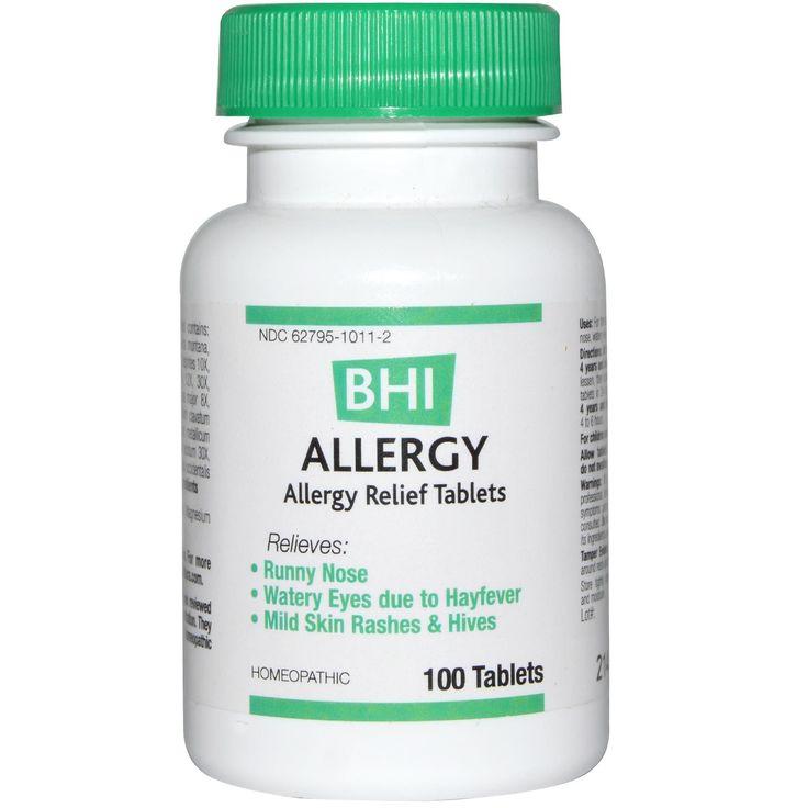 MediNatura, BHI, Allergy, 100 Tablets - iHerb.com