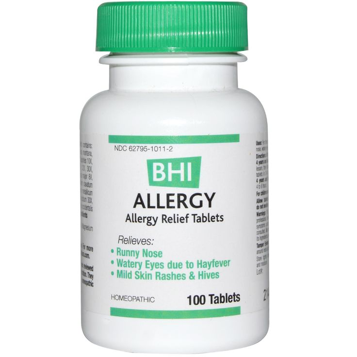 MediNatura, BHI, Allergy, 100 Tablets - iHerb.com