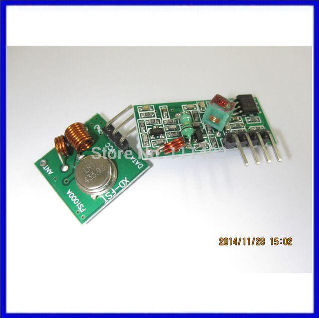 RF wireless receiver module & transmitter module board super regeneration 433MHZ DC5V (ASK /OOK) 1pair =2pcs