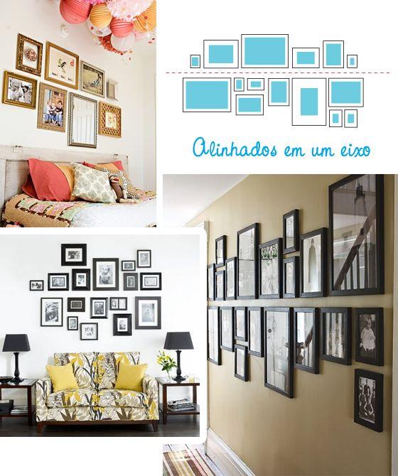 Como decorar tus paredes, alineadas a una línea imaginaria