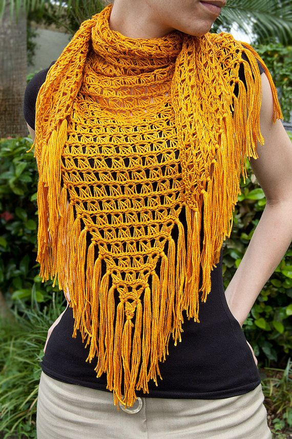 Dainty Loops Broomstick Offset Shawlette Pattern #crochet #crafts #patterns #gold #golden #honey #shawl #broomstick #lace http://www.etsy.com/listing/80828630/broomstick-offset-shawl-pdf-pattern