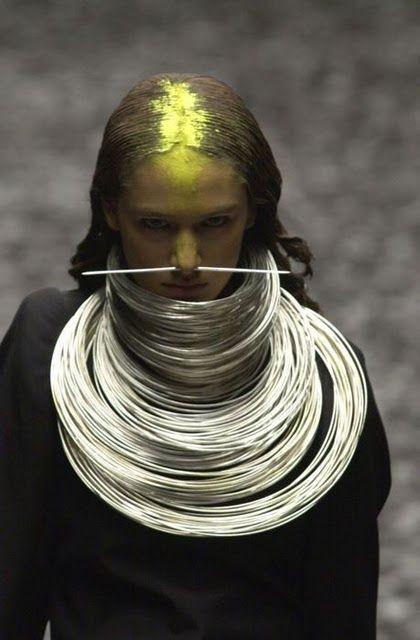 Shaun Leane (when working for Alexander McQueen)- tribal origins / hooped necklaces