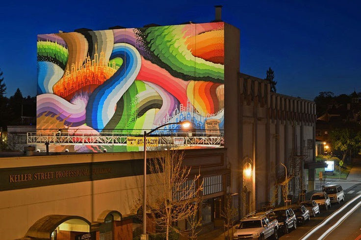 Phoenix Theater mural project Aerosol art mural by Ricky Watts for the Phoenix Theater in Petaluma, California, 2013.
