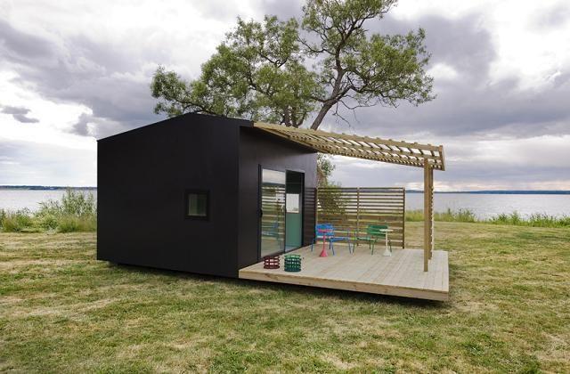 A mini casa pré-fabricada pronta em 2 dias