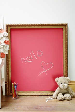 Create a children's chalkboard in a bright colour, or use it as a notice board at work or in the kitchen at home. Love it!  Speciality Finishes - Chalkboard Paint