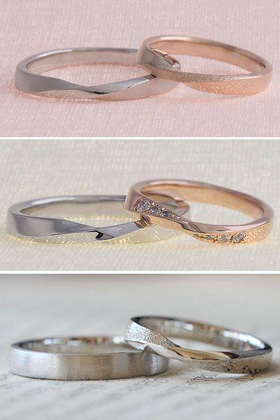 テクスチャを変えたり、ダイヤを入れたり様々なアレンジでお二人らしいリングをオーダーできます。 [結婚指輪,マリッジリング,marriage,wedding,bridal,ring,オーダーメイド,イズ,ith,K18PG,pink,gold,Pt900]