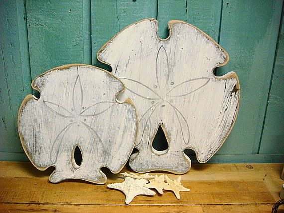 Sand Dollar Sign Large Beach House Decor Wall Art by CastawaysHall                                                                                                                                                                                 More