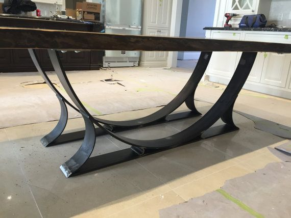 Live edge black walnut dining table Free shipping by PlankToTable