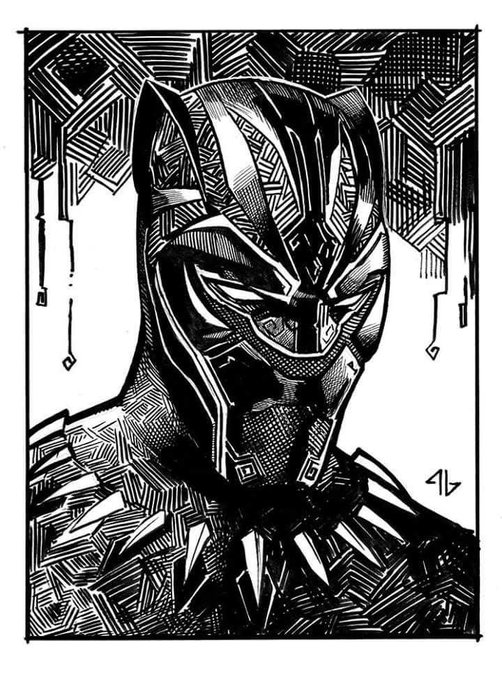 Black Panther Sketch By Adi Granov | Black Panther | Pinterest | Black Panther Sketches And Marvel