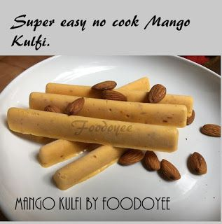 Mango Kulfi, super easy to make!