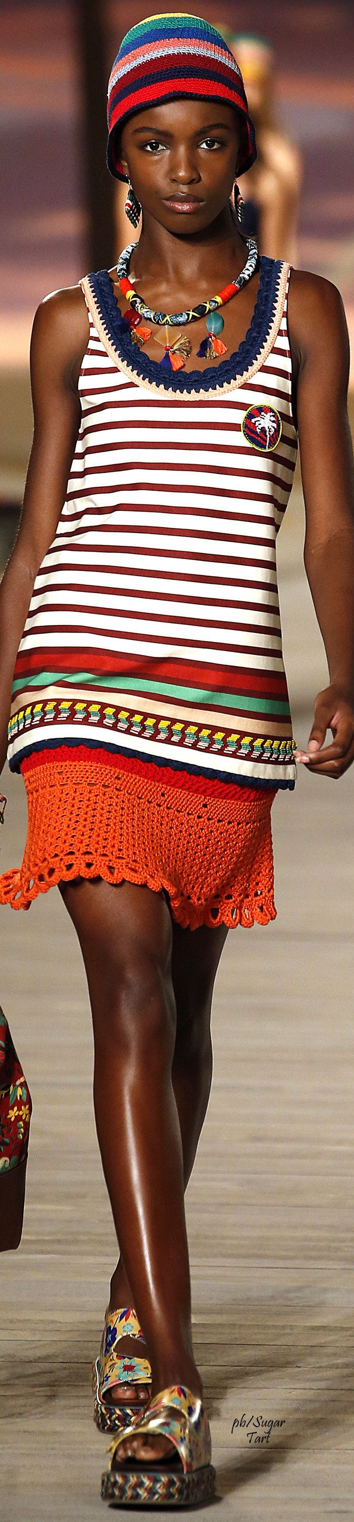 Tommy Hilfiger Spring 2016 RTW women fashion outfit clothing style apparel @roressclothes closet ideas