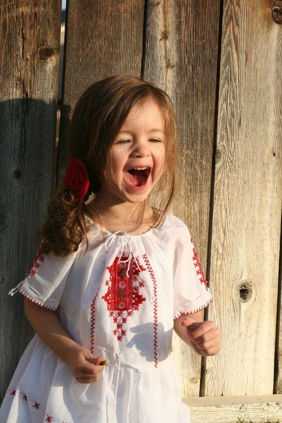 Happy little Romanian Girl