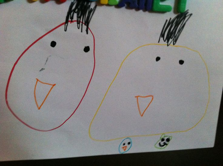 Angry birds drawing by my 4 yr old kido