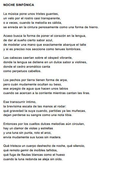 ''Noche sinfónica'', por Vicente Aleixandre.