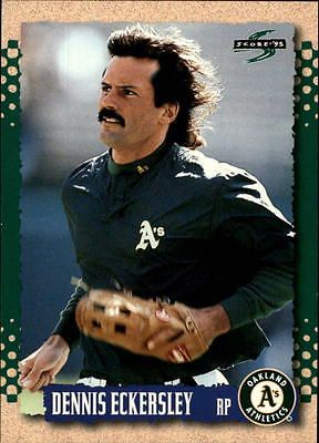 1995 Score Oakland Athletics Baseball Card #408 Dennis Eckersley
